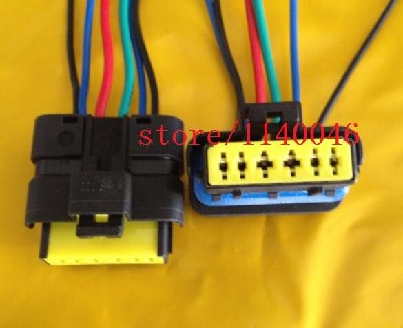 2pcs FOR new Peugeot / 206 307 / Citroen / Elysee fuel pump throttle plug fuel pump module assembly fit for citroen xantia