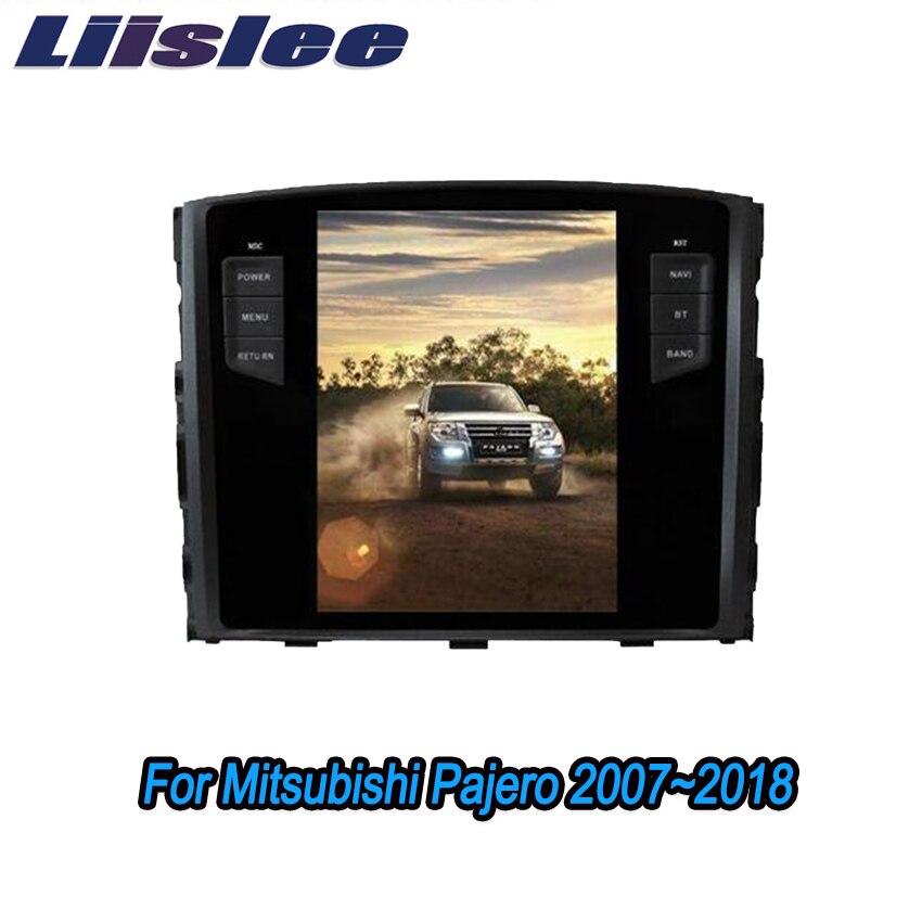 Liislee 2 din Android pour Mitsubishi Pajero 2007 ~ 2018 grand écran voiture lecteur multimédia GPS Navigation Radio Bluetooth Carplay