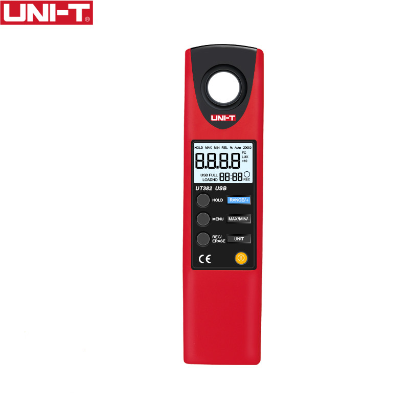 UNI T UT382 Illuminometers Measurement FC LUX Auto Range Data Logging USB Interface Level font b