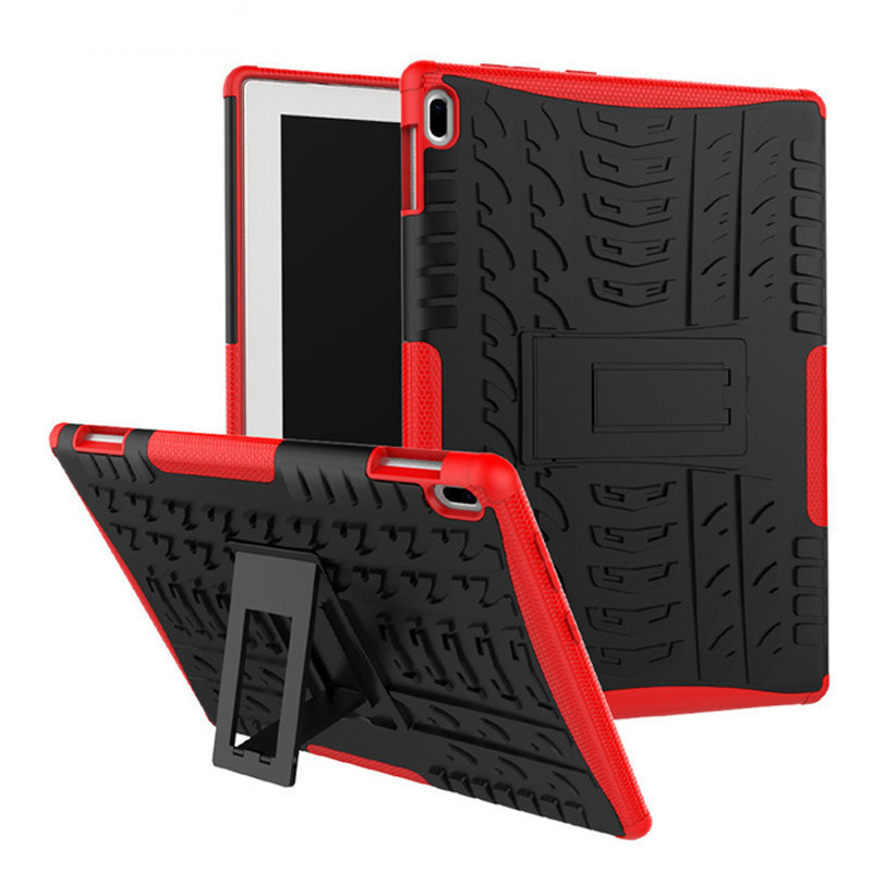 Hard Armor Case For Lenovo Tab <font><b>4</b></font> <font><b>10</b></font> TB-X304L TB-X304F TB-X304N <font><b>10</b></font>.<font><b>1</b></font> Cover Heavy Duty 2 in <font><b>1</b></font> Hybrid Rugged TPU+PC Tablet+Film+Pen image