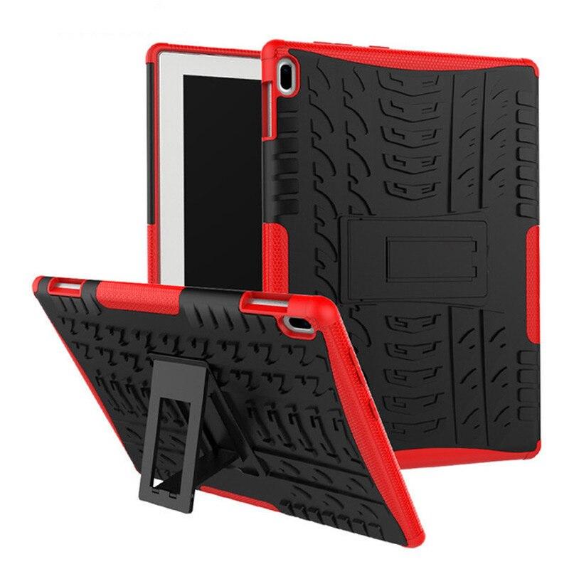 Harten Rüstung Fall Für Lenovo Tab 4 10 TB-X304L TB-X304F TB-X304N 10,1 Abdeckung Heavy Duty 2 in 1 Hybrid Robuste TPU + PC Tablet + Film + Stift