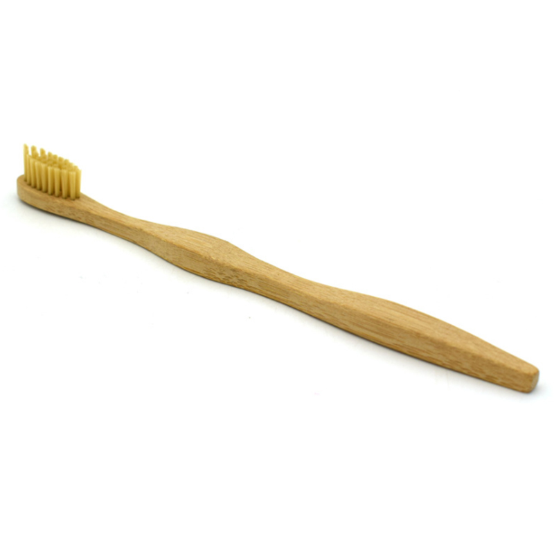 1134 3 pcs hot sale natural wooden bamboo handle bamboo toothbrush best seller image