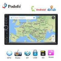 Podofo Auto Radio 2 Din Android GPS Navigation Car Radio Audio Stereo 7 1024*600 Universal Multimedia Player Wifi Bluetooth USB