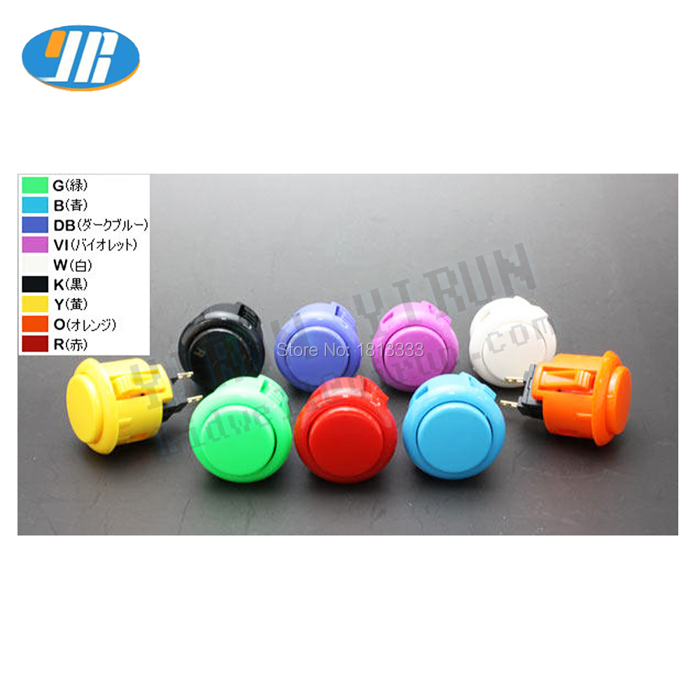 1PCS SANWA OBSF-24 Push Button 24MM Zero delay Arcade Game Button Original SANWA Made In Japan