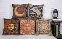 Sáng tạo Ai Cập Cổ Đại bức tranh tường khác thường cổ điển thần mặt trời trăng thần retro ném pillow case gối bìa bán buôn