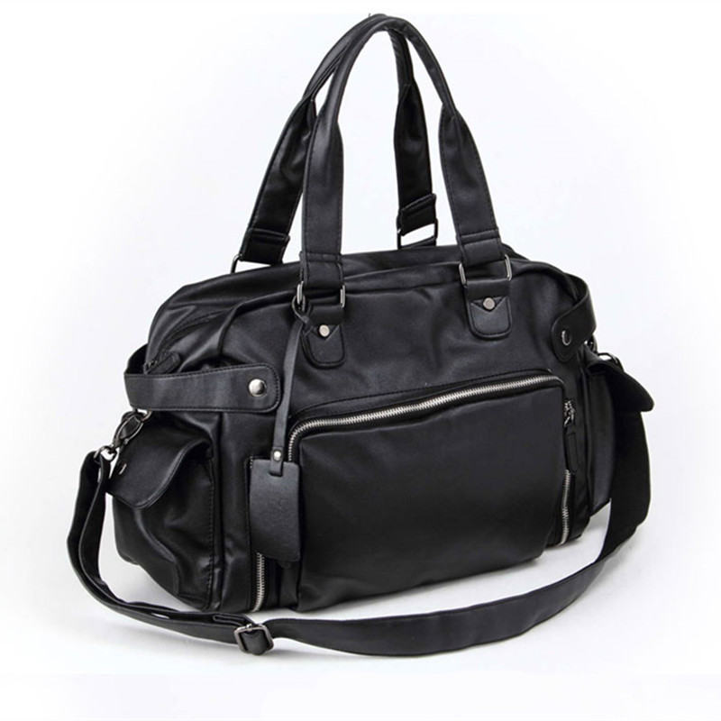 Men Bags Leather Travel Bags Waterproof Shoulder Luggage Bags For Male Gift 14