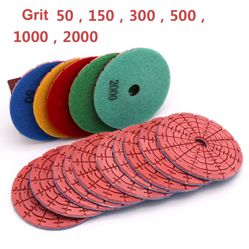 100mm Diamond Grinding Disc Dry Polishing Pad For Jade Marble Granite Floor Stone Polished Grinding Wheel Flexible Abravise Pad
