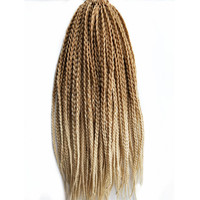 Pervado Hair 18Inch 22strands Pack African 3s Box Hair Braids Blonde Ombre Color Synthetic Crochet Hair