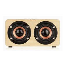 Itek Portable Mini Wireless Bluetooth Wooden HiFi Speaker Stereo Subwoofer Double Loudspeaker Support Handsfree Call TF Card AUX