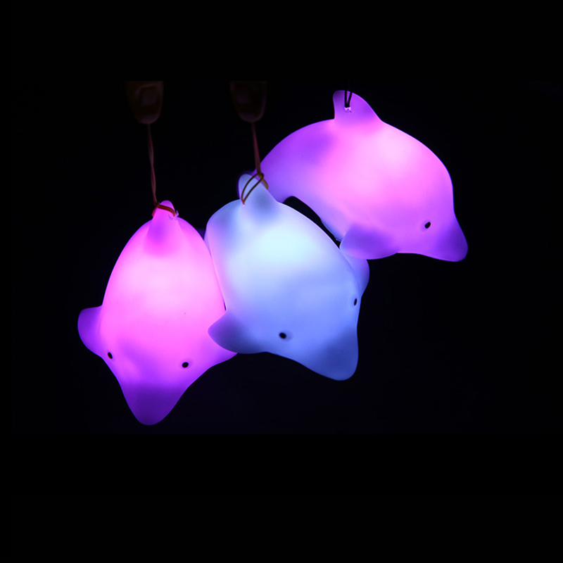 Corbett Lighting Party All Night: Free Shipping 1 PCS Lovely Dolphin LED Night Light Lamp