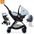 Travel System Cochecito y Asiento de Coche de Bebé Plegable Cochecito de bebé con Capazo Conjunto