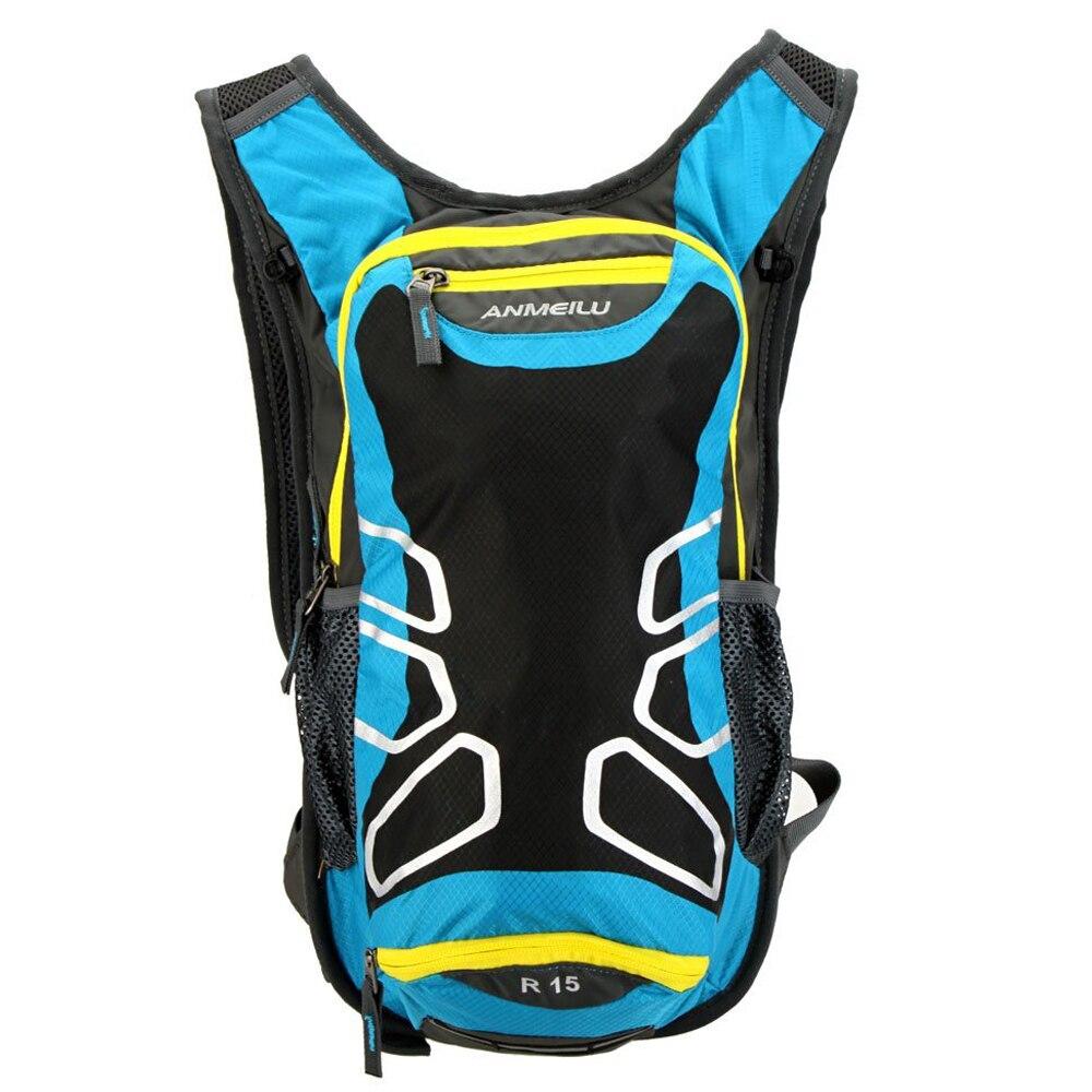 ANMEILU Riding Backpack Cycling Outdoor Shoulder Waterproof Hiking Mountain Bike Tour, Camping, Running Water Bag Lake Blue