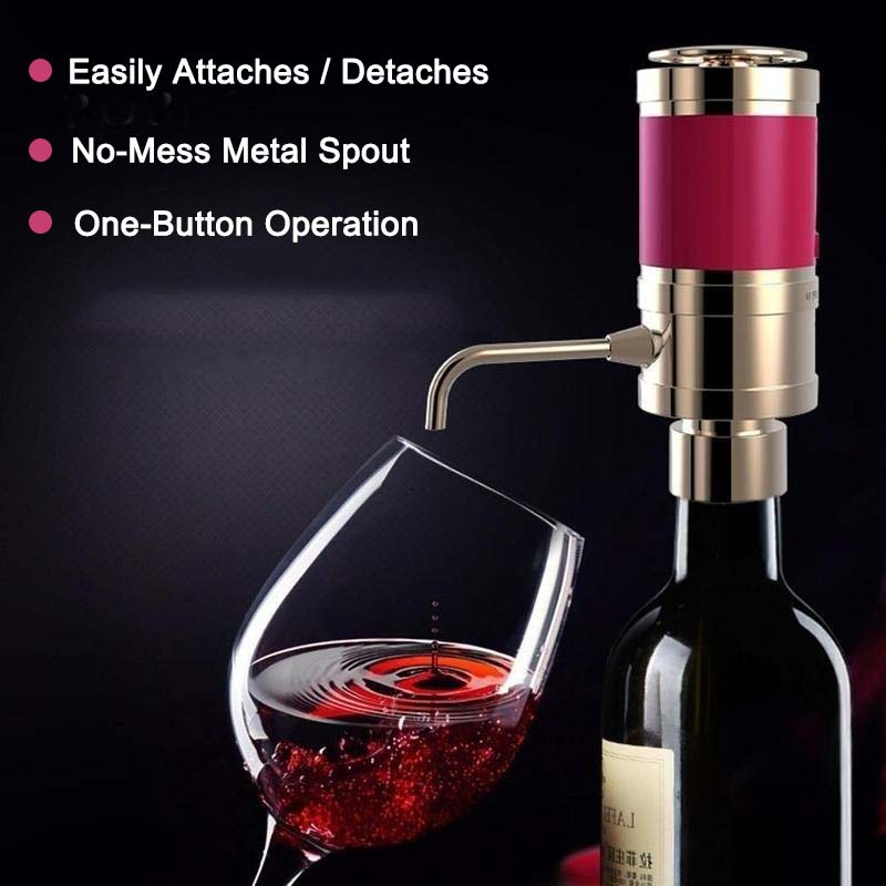 Electric Red Wine Aerator Magic Decanter Pump Essential Wine Quick Aerator Oxygenator Spout Pourer for Wine