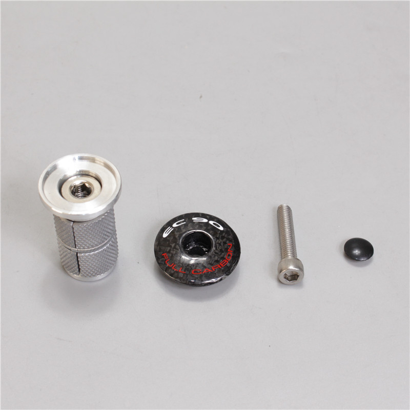 EC90 Carbon Fork Hanging Heart Tension Adjuster Top Cap Head Cover Bicycle Headset Expansion Screw Lock Core Screw