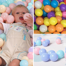 200 Pcs/Lot Eco-Friendly Colorful Ball Soft Plastic Ocean Wave Ball Children Colored Balls Kid Swim Pit Toy Water Pool Ball Pit