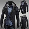 Abrigo de paño de lana cultivan de moralidad hombre cazadora con capucha moda capa encapuchada