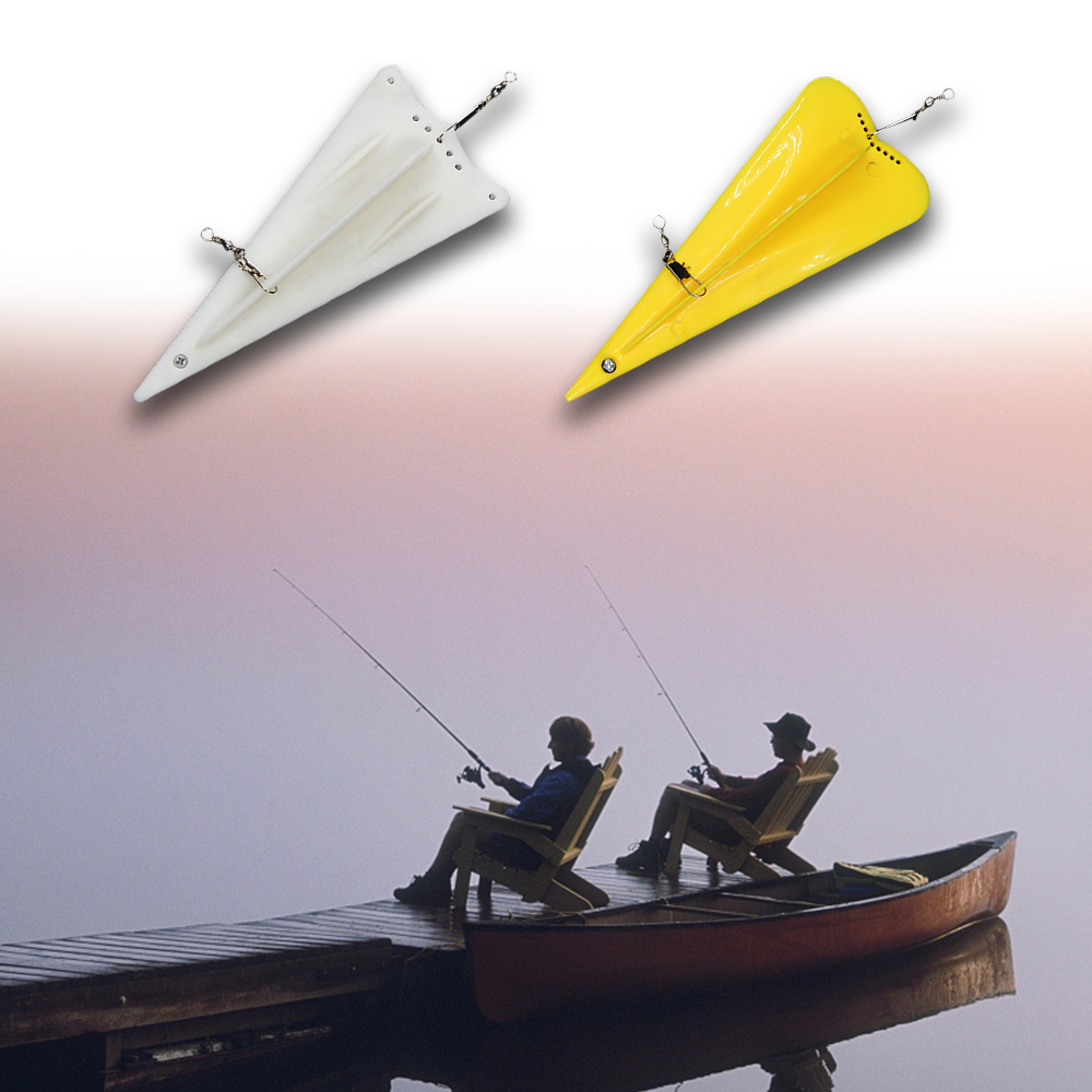 Plastic Fishing Diving Board Lure with Weight Sinker Rotating Swivels Fishing Trolling Board Fishing Accessories for Pesca
