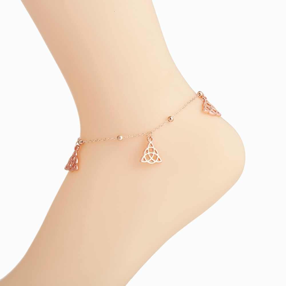 Чандлер узел ножной браслет для ног ботильоны тонкий браслет из бисера с удлинить цепь 20 + 10 см пляжные поверхность лето спортивный ювелирные изделия
