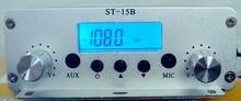 1.5W/15W Dual mode 87MHz-108MHz FM broadcast transmitter ST-15BV2 stereo PLL fm radio broadcast station цена 2017