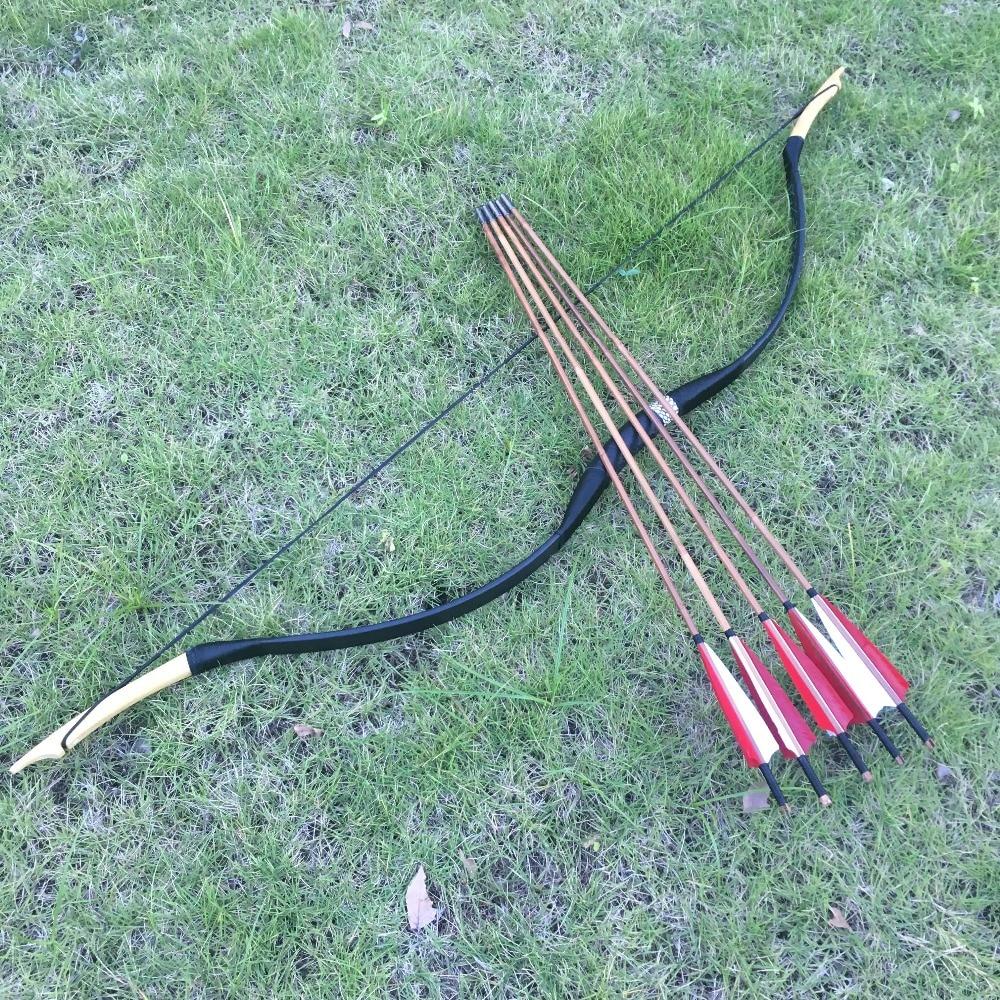 20-60lbs Tir À L'arc Chasse Takedown Riser Bois Stratifié Membres Recurve Longbow + 6 flèches en bambou