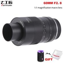 7 אומנים 60mm f2.8 1:1 הגדלה מאקרו עדשה מתאים עבור Sony E הר/פוג י/M4/3 הר ראי מצלמה A6500 A6400