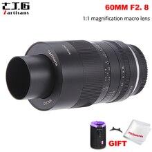 7 artesãos 60mm f2.8 1:1 ampliação macro lente adequada para sony e montagem/fuji/m4/3 montagem câmera sem espelho a6500 a6400