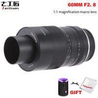 7artisans 60mm f2.8 1:1 lente Macro de aumento adecuado para Sony e-mount Canon EOS RF Fuji M43 Nikon Z montaje sin espejo Cámara
