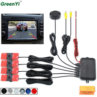 Car Video Reversing Radar Assistance System Original 16mm and 6 colors available Flat Sensors and the distance display output