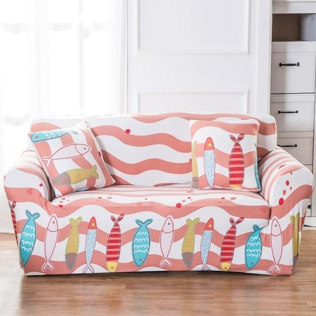 TUTUBIRD Custom stretch fabric sofa sets pink fish Four Seasons ...