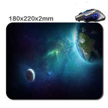 The moon and the earth Customized 180 * 220 * 2 Mm Rectangle Non - Slip Rubber Soft 3 D Print Gaming Laptop Mouse Pad As Gift(China)
