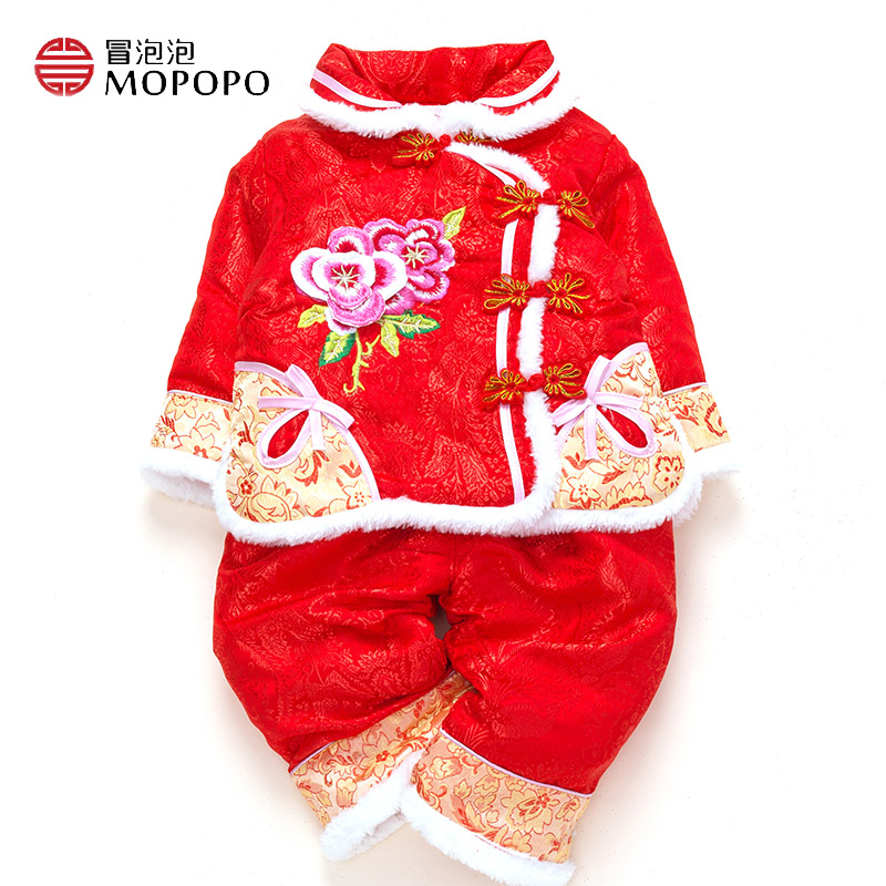 Baby Newborn Set Girl Warm Long Sleeve Chinese Style Tang New Born Baby Clothes Girl Winter Gift Cotton 2pcs Baby Outfits Set 2017 baby girl clothe autumn spring china tang style cotton newborn baby clothing girl long sleeve baby newborn clothes set 2pcs