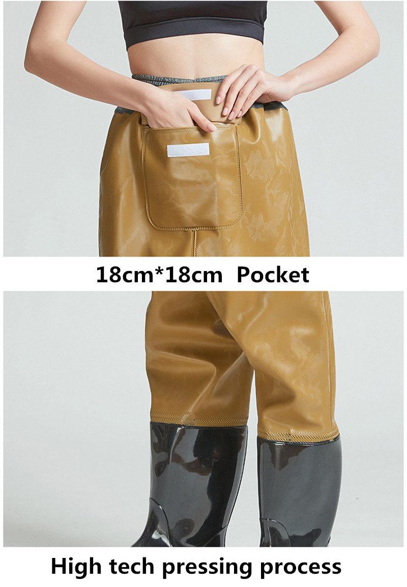 botas pvc impermeável malha tecido malha cintura