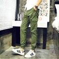 Código plus size M-5XL 2017 primavera e verão dos homens calça casual calças pés Feixe Japonês harem pants Venda Quente
