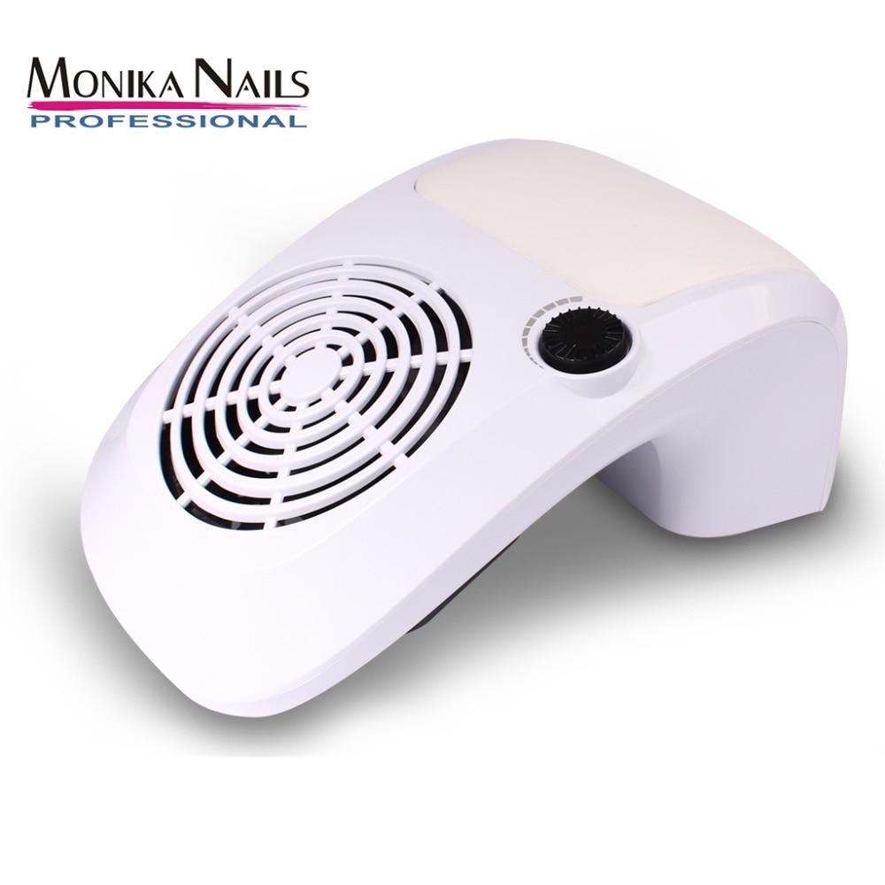Collecteur d'aspiration de poussière d'ongle Monika forte puissance 40 W meulage collecteur de poussière de polissage ventilateur d'ongle Art Salon Machine aspirateur