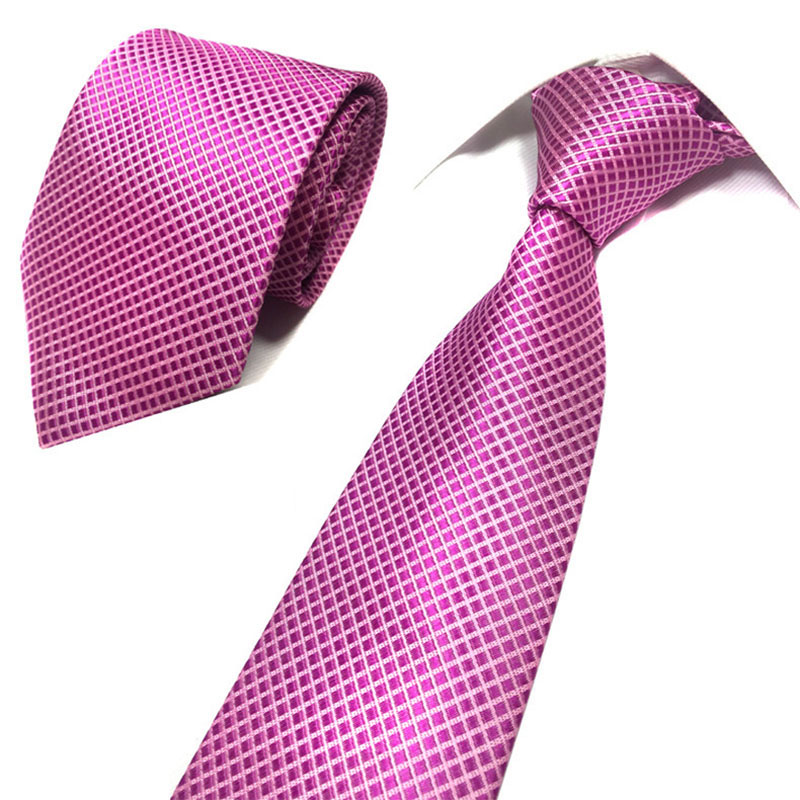 b425334f24c4 Men Tie 8 cm ties Striped 100%Silk Neckties Men Fashion Jacquard Business men's  Wedding dress luxury wide tie