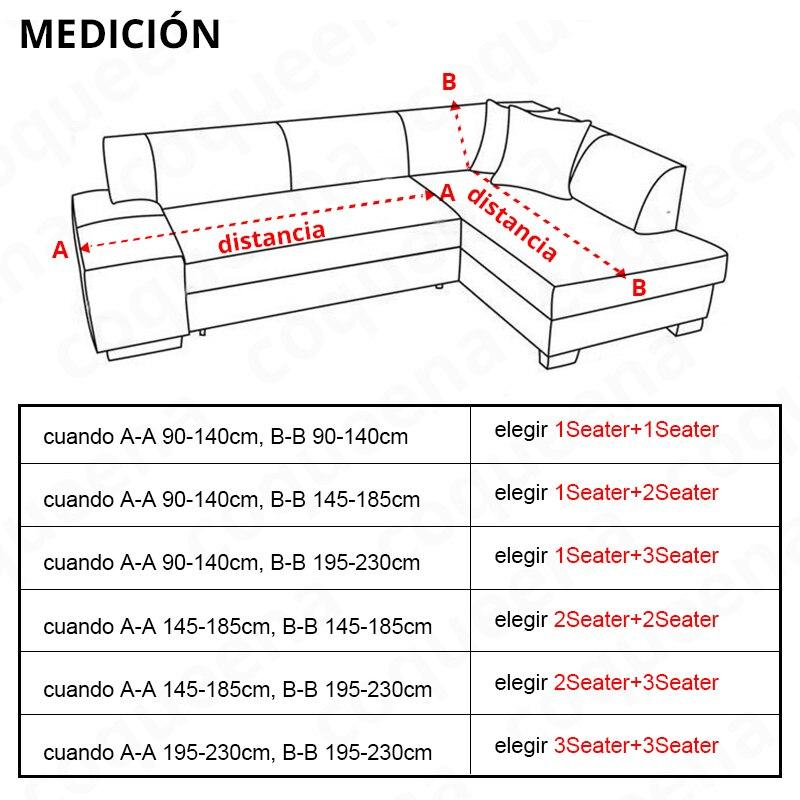 para sofá de canto universal estiramento elástico