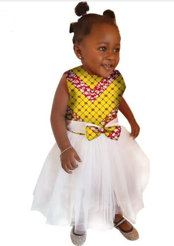 African Dresses For Time-limited Promotion Robe Africaine 2017 Cotton Printed Girls African Children Clothing