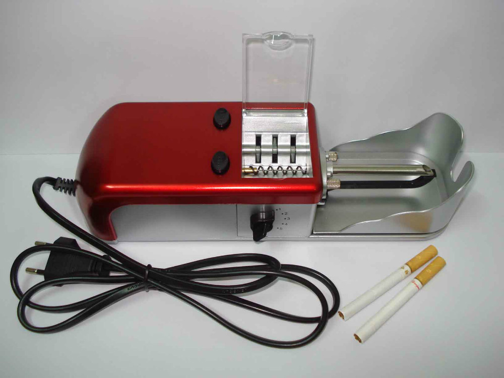 Retail/Wholesale - Free shipping household electric cigarette machine/cigarette maker 110-240V EU adapter or US adapter