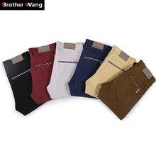 Casual Pants Trousers Brand Clothes Fashion Slim-Fit Male Men's Multicolor Business Elastic