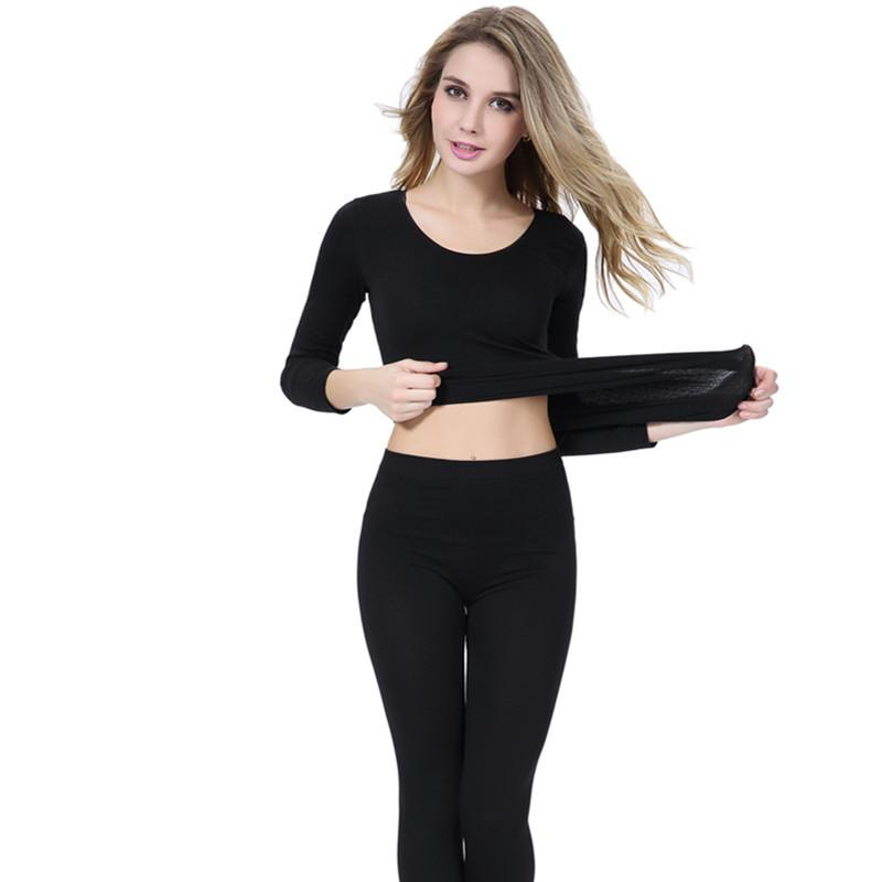 Thermal Underwear Women Winter Antibiosis Warm Long Johns Underwear Top Pant Sexy Slim Comfortable Soft thermal sets Thermal