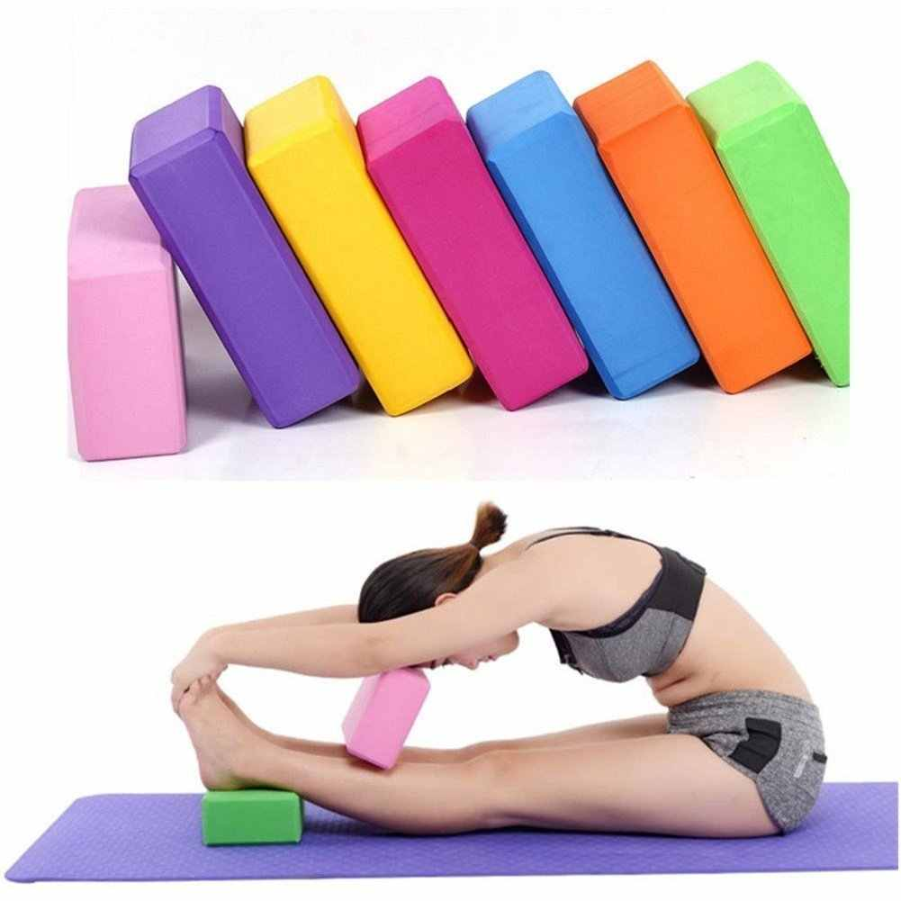 Yoga Block Brick Foam Exercise Brick Yoga Blocks Eco Friendly Pilates Purple NEW
