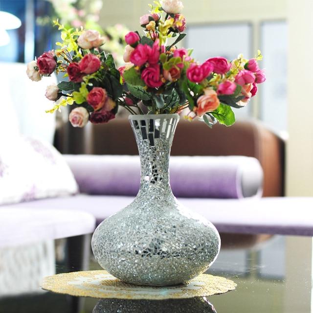 Broken Glass Vase Handmade Mosaic Flower Home In Vases From Home