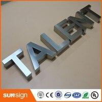 Настенное крепление буквы знак 3D буквы из нержавеющей стали
