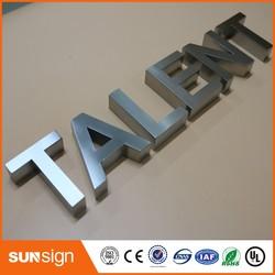 Muurbevestiging letters teken 3d rvs letters