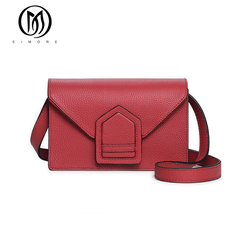 EIMORE Designer Bags Handbags Women Famous Brands Genuine Leather Female Shoulder Bag High Quality Fashion Women Crossbody Bag female handbag bag fashion women genuine leather cowhide large shoulder bag crossbody ladies famous brand big bags high quality