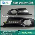 Frete grátis! 12 V 6000 k LED DRL Daytime running luz para VW Jetta 2012 Nevoeiro quadro lâmpada luz de Nevoeiro Do Carro styling