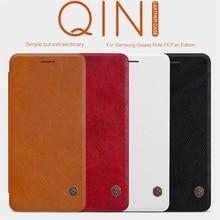 Voor Samsung Galaxy Note Fe (Fan Editie) case Nillkin Qin Vintage Lederen Card Pocket Flip Cover Voor Samsung Note Fe Telefoon Tassen