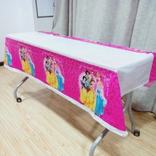 108cm*180cm Princess Disposable Tablecloth Birthday Party Decorations For Home Tablecovers Baby Shower Supplies kid girls favors