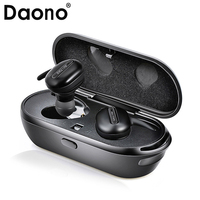 DAONO TWS Invisible Mini Headphones 3D Stereo Hands free Noise Reduction Bluetooth Headset Wireless Earphones and Power Bank box
