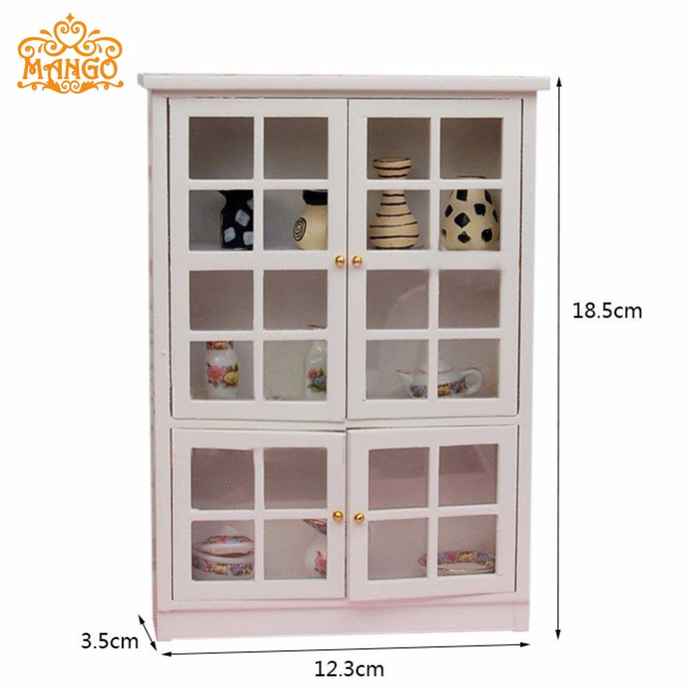 1 12 Dollhouse Miniature Furniture Kitchen Cabinet Cupboard Display Shelf Wood Free Shipping China